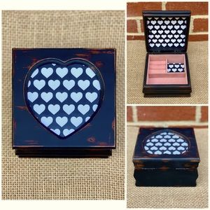 Smal Wooden Jewelry Box, Upcycled Rustic Black